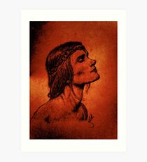 A Woman Born from Fire Art Print