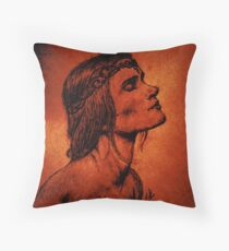 A Woman Born from Fire Throw Pillow