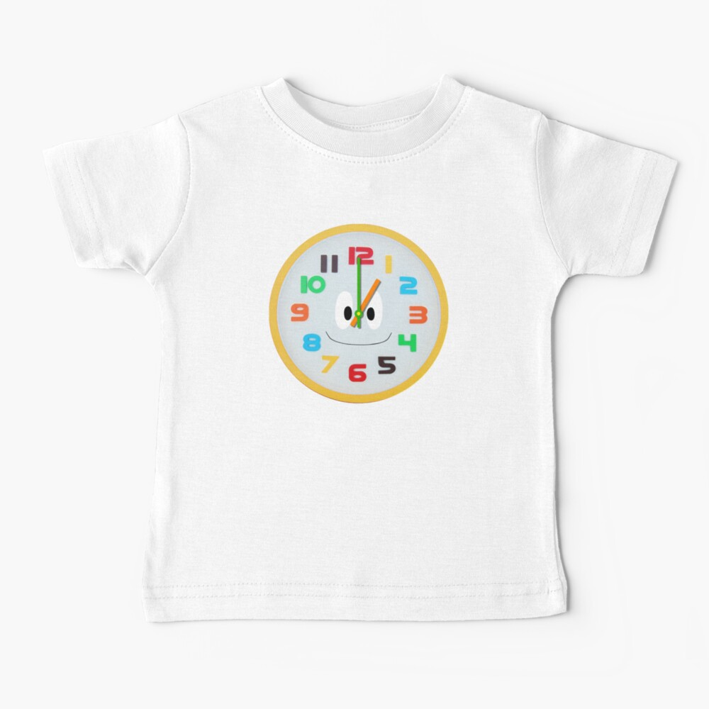 Telling Time 2 - The Kids' Picture Show - Clock Baby T-Shirt