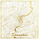 Shanghai Karte Gold von HubertRoguski