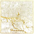Hamburg Karte Gold von HubertRoguski