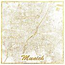 München Karte Gold von HubertRoguski