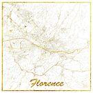 Florenz Karte Gold von HubertRoguski