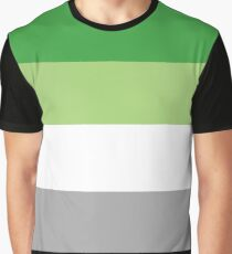 Aromantic Pride Flag Shirt Graphic T-Shirt