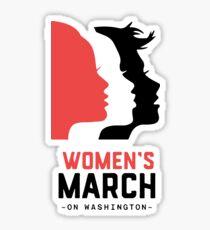 WOMAN'S MARCH ON WASHINGTON B Sticker