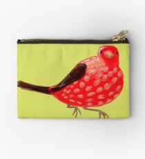 Strawberry Tanager Zipper Pouch