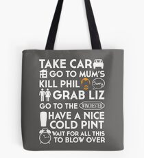 SHAUN OF THE DEAD THE PLAN TO TO LIST Tote Bag