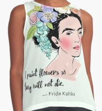 Frida Kahlo - Painter of Flowers Contrast Tank