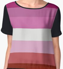 Lesbian Pride Flag Shirt Chiffon Top