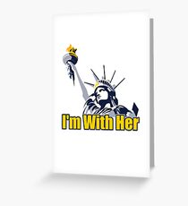 I'm Whit Her Greeting Card