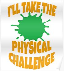 Double Dare - Nickelodeon - I'll Take The Physical Challenge Poster