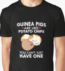 Guinea Pigs Are Like Potato Chips Funny Quote Cute  Graphic T-Shirt