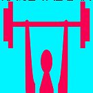 Raise the Bar: Pink Weightlifter  by EvePenman