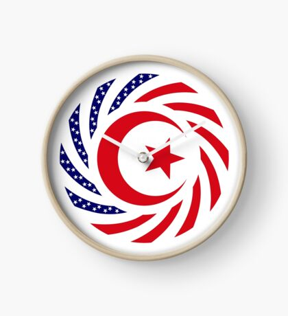 Muslim American Multinational Patriot Flag Series 1.0 Clock