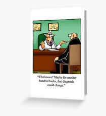 """Funny """"Spectickles"""" Healthcare Cartoon Greeting Card"""
