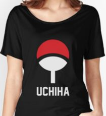 Uchiha crest symbol and name Women's Relaxed Fit T-Shirt