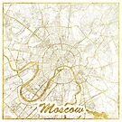 Moscow Map Gold by HubertRoguski