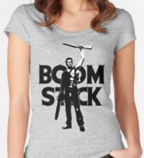 Evil Dead - Ash - Boomstick Women's Fitted Scoop T-Shirt