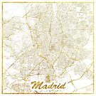 Madrid Karte Gold von HubertRoguski