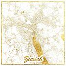 Zürich Karte Gold von HubertRoguski