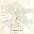 Ankara Karte Gold von HubertRoguski