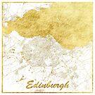 Edinburgh Karte Gold von HubertRoguski