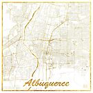 Albuquerque Map Gold by HubertRoguski