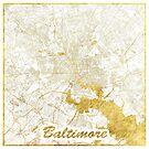 Baltimore Karte Gold von HubertRoguski