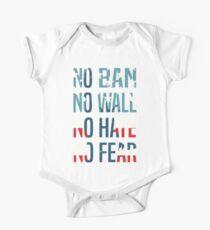 No Ban No Wall No Hate No Fear Kids Clothes