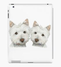 Two Cute Westie Dogs Art iPad Case/Skin