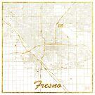 Fresno Karte Gold von HubertRoguski