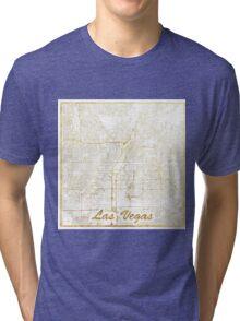 Las Vegas Map Gold Tri-blend T-Shirt