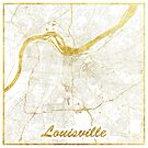 Louisville Karte Gold von HubertRoguski