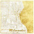 Milwaukee Karte Gold von HubertRoguski