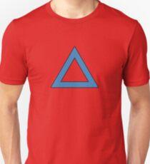 77dfc24f7d71 Blue Triangle Outline Slim Fit T-Shirt