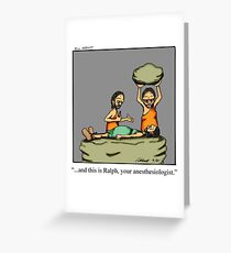 Funny Medical Cartoon Art Greeting Card
