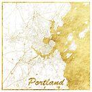 Portland-Karte Gold von HubertRoguski