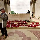 Their name liveth for evermore -  Thiepval memorial, France by Norman Repacholi