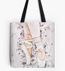 Female Ballet Dancer balances on her tows Tote Bag