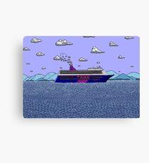 Cruise Liner Joyce Canvas Print