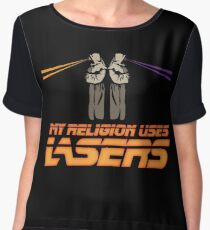 My Religion Uses Lasers Chiffon Top
