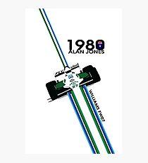ALAN JONES AUSTRALIA WILLIAMS F1 1980  Photographic Print