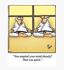 "Funny ""Spectickles"" Meditation Cartoon Photographic Print"