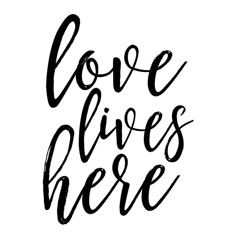 Love Lives Here,family Sign,home Decor,love Sign,home Wall Art,family Sign,love  Quotes,typography Posters,printable Art,quote Printable