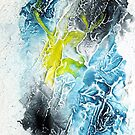 Blue, black and yellow abstract  by Simon Rudd