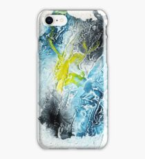 Blue, black and yellow abstract  iPhone Case/Skin