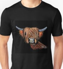 Scottish Highland Cow 'CHILLI PEPPER' by Shirley MacArthur Unisex T-Shirt