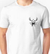 Small Black Triangle Stag Logo Unisex T-Shirt
