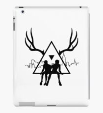 Small Black Triangle Stag Logo iPad Case/Skin
