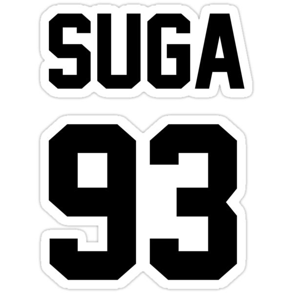"""SUGA 93"" Stickers by AliMichelle"